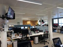 La newsroom de RTL, anormalement vide. ((Photo: DR))