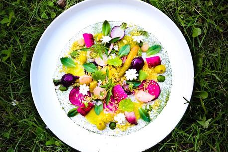 Les assiettes colorées du chef RenéMathieu à La Distillerie occupent actuellement la 3emarche du podium des meilleurs restaurants végétaux du monde. (Photo: René Mathieu/Distillerie)