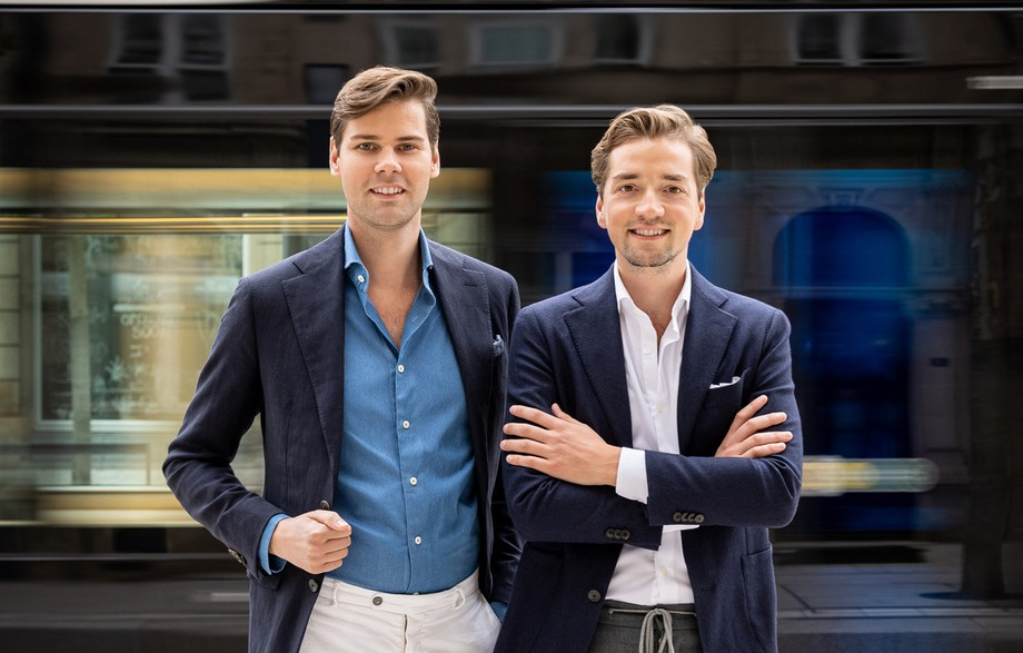 Laurens Krekels and Bram ter Harmsel want to complete the range of suits in Luxembourg. (Photo: Les Hommes d'Amsterdam)