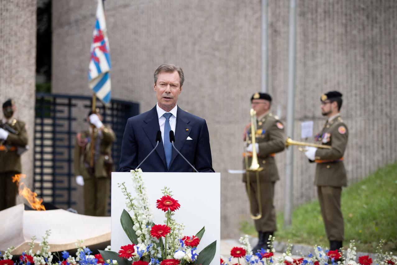 Le Grand-Duc a prononcé son discours de la Fête nationale devant le Kanounenhiwwel. (Photo: SIP/SophieMargue)