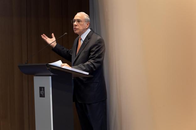 Angel Gurria, le secrétaire général de l'OCDE, est venu en personne présenter les conclusions de l'Étude économique sur le Luxembourg. (Photo: Nader Ghavami)