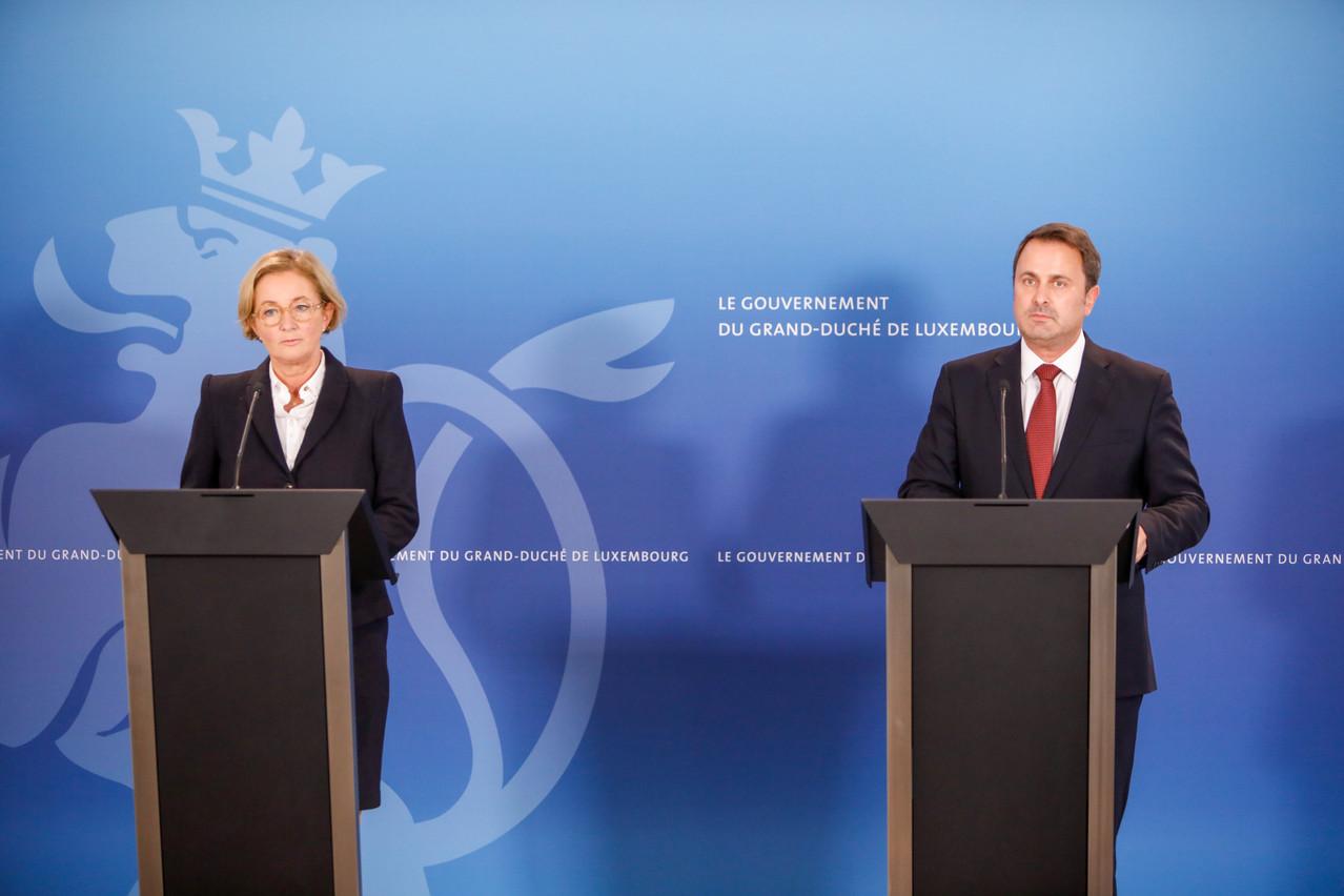 Pas question de procéder à des allégements, insistent Paulette Lenert et Xavier Bettel. (Photo: Romain Gamba/Maison Moderne)