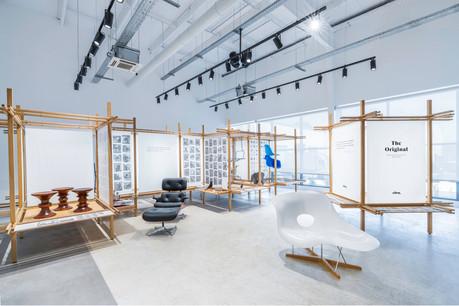 Les meubles Vitra sont à l'honneur dans le magasin Smets. (Photo: Nicolasde Caritat)