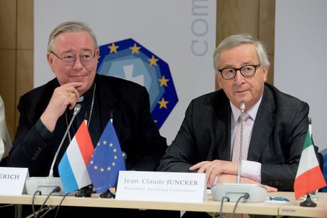 En mars 2019, lors de leur assemblée de printemps, les évêques de l'Union européenne ont reçu Jean-Claude Juncker, président de la Commission. (Photo: Comece/EU)