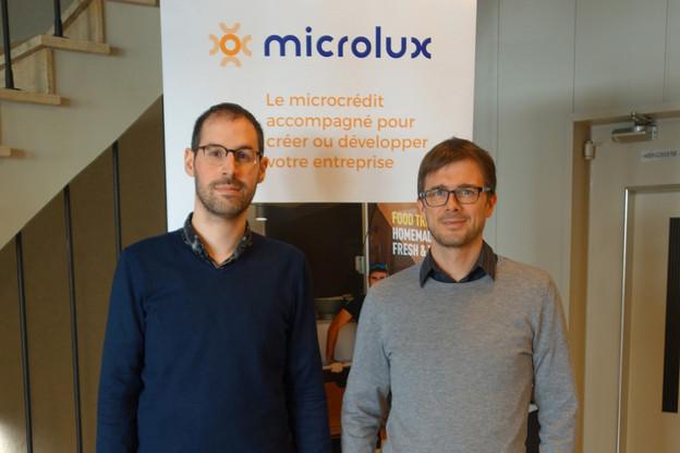 En 2018, Samuel Paulus et Jérémy Del Rosario ont multiplié les contacts avec les candidats entrepreneurs.                                 (Photo: Microlux)