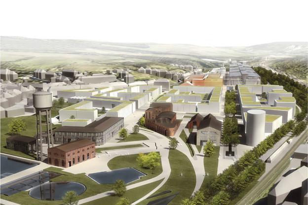 Le projet Neischmelz à Dudelange fait partie des grands ensembles urbains à venir au Luxembourg. (Illustration: CBA/Ville de Dudelange)
