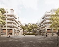 Au centre de l'immeuble, un jardin est accessible pour les habitants et les usagers du quartier. (Illustrations: Petitdidierprioux/Ponnie images)