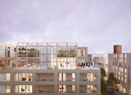 Le toit de l'immeuble sera pleinement habité, notamment avec une verrière. (Illustrations: Petitdidierprioux/Ponnie images)