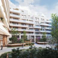 Côté jardin, les logements disposeront de balcons pour profiter de l'espace extérieur. (Illustrations: Petitdidierprioux/Ponnie images)