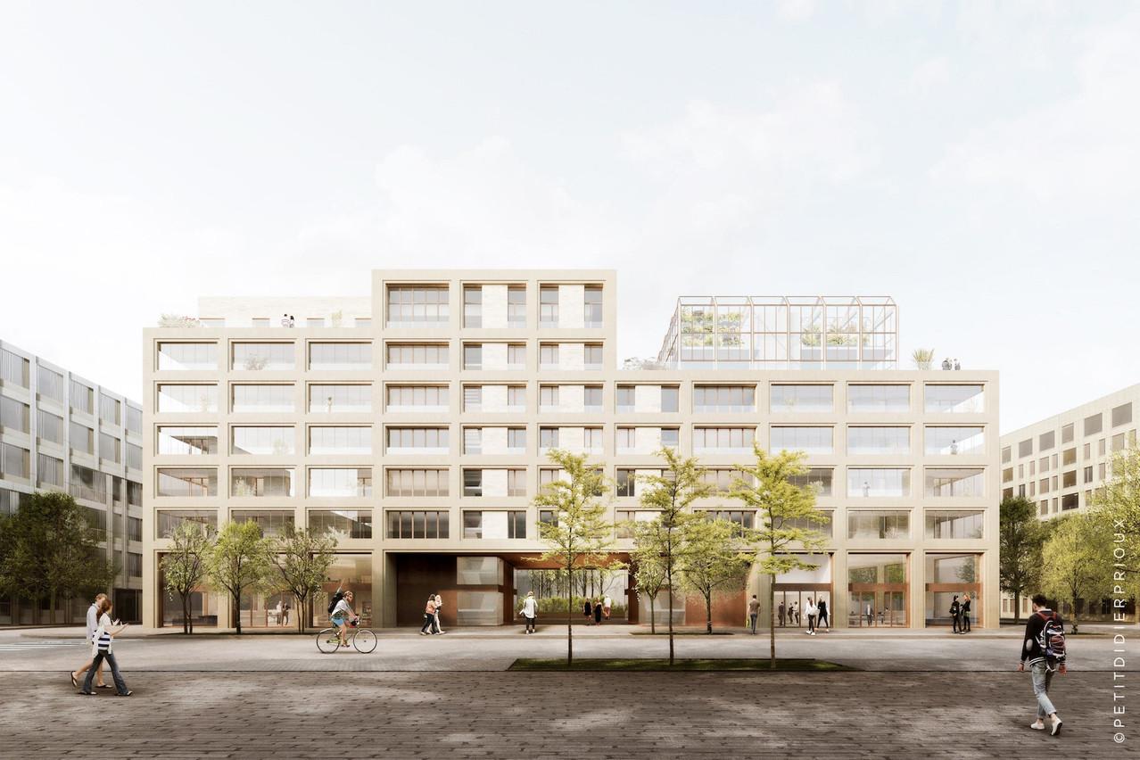 C'est le bureau parisien Petitdidierprioux qui a la mission architecturale de ce projet «Millenium» développé à Belval par Tralux Immobilier. (Illustrations: Petitdidierprioux/Ponnie images)