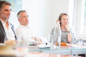 Charles Nollet, David Lourenço et Sylvie Remont (Banque de Luxembourg) ((Photos: Jan Hanrion / Maison Moderne))