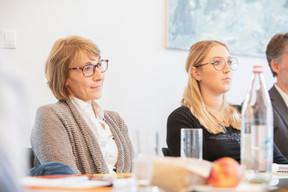 Patrizia Ascani (Centre Hospitalier Emile Mayrisch) et Céline Roels (Roels Deluxe) ((Photos: Jan Hanrion / Maison Moderne))