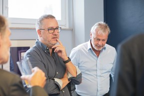 Olivier Deboeck (Axiome) et Hansjörg Reimer (Centre Hospitalier Emile Mayrisch) ((Photos: Jan Hanrion / Maison Moderne))