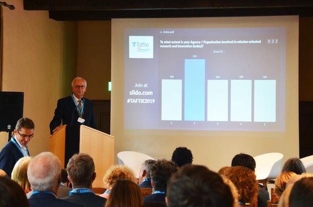 Le professeur Rainer Kattel, directeur adjoint de l'Institute for innovation and public purpose de l'University College de Londres, lors de la conférence Taftie au Luxembourg. (Photo: Luxinnovation)