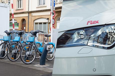 À l'image des Vel'oh ou des véhicules Flex by CFL, l'offre de transports partagés est en constant développement au Luxembourg. (Montage: Maison Moderne)