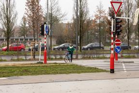 Dernière arrivée, Catherine Kurzawa ferme le classement, avec un trajet total de 26 minutes à vélo. ((Photo: Romain Gamba / Maison Moderne))