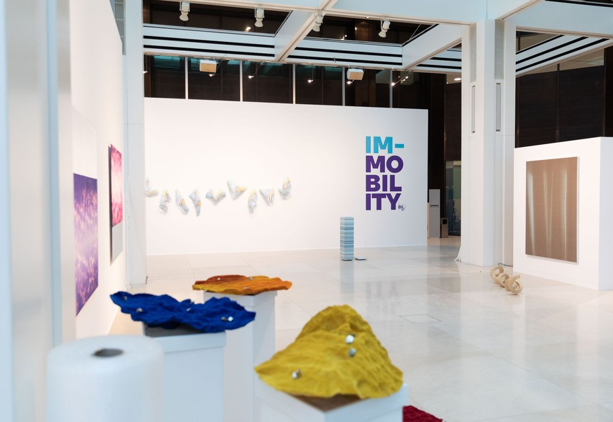 """The """"Im-Mobility"""" exhibition is being shown in Banque Internationale à Luxembourg's Galerie Indépendance, route d'Esch, Luxembourg-Hollerich. Photo: BIL"""