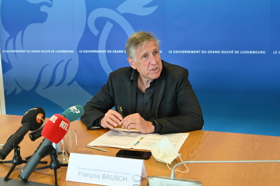 Transport minister and deputy prime minister François Bausch (Déi Gréng) Library photo: MMTTP