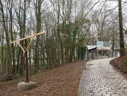 Des gabarits de la passerelle ont été disposés en collaboration avec l'Administration de la nature et des forêts. ((Photo: Romain Girtgen))