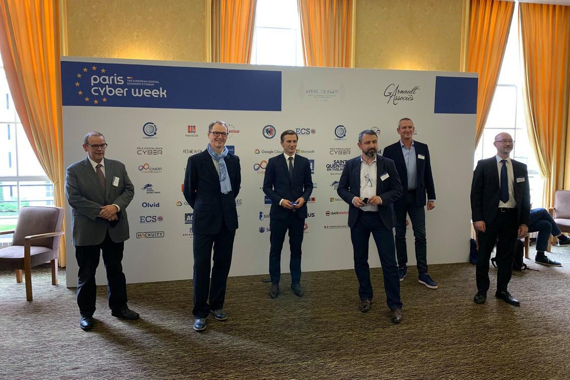 Avant le lancement de la Cybersecurity Week au Luxembourg, du 19 au 29 octobre, les experts luxembourgeois ont pris part au lancement du Mois de la cybersécurité, mercredi, à Paris. (Photo: Cybersecurity Luxembourg/Twitter)