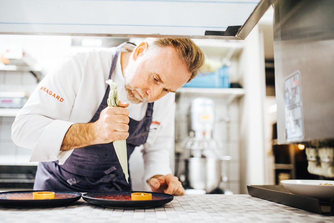 Cyril Molard, chef du désormais seul restaurant deux étoiles du Luxembourg, Ma Langue Sourit à Moutfort. (Photo: Edouard Olszewski/archives)