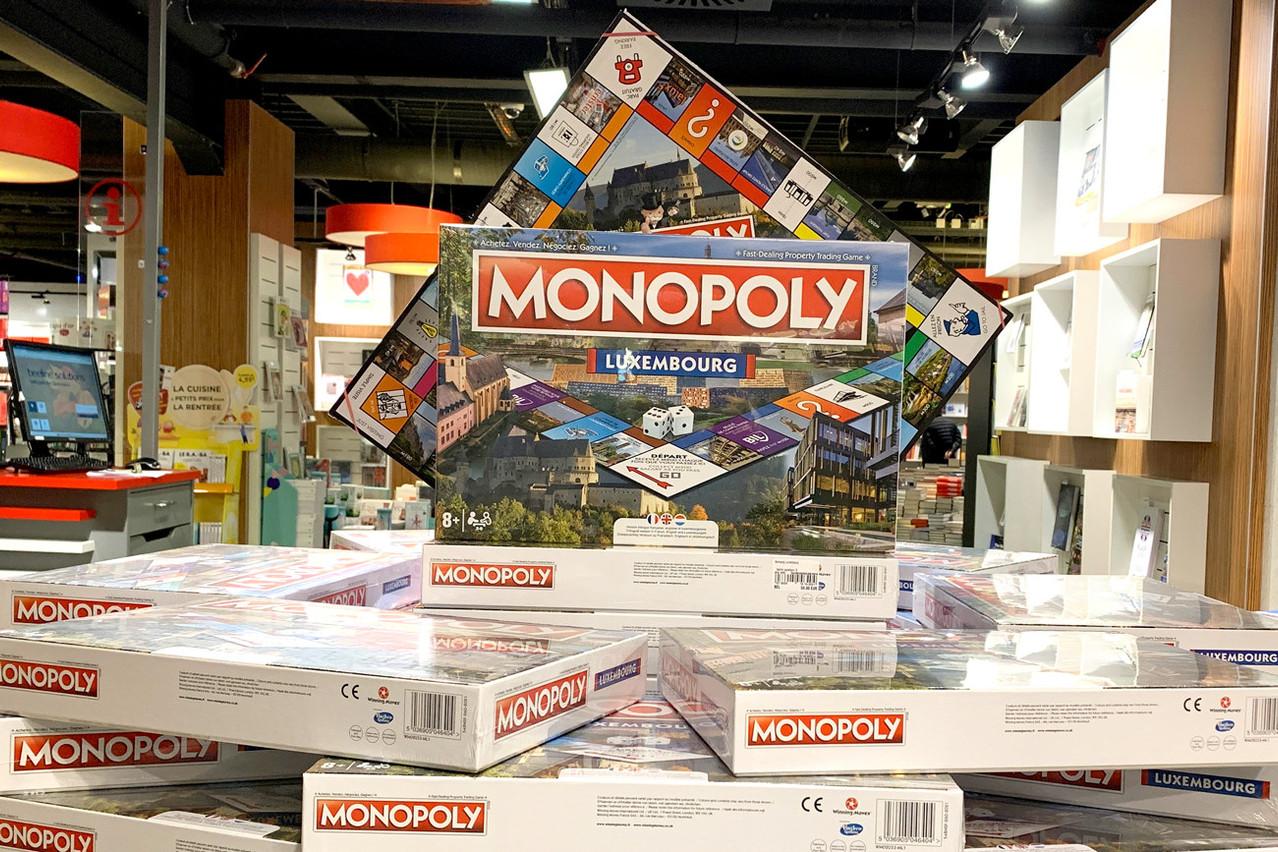 Disponible dans les librairies Ernster, le nouveau Monopoly Luxembourg se profile déjà parmi les incontournables sous le sapin. (Photo: Paperjam)