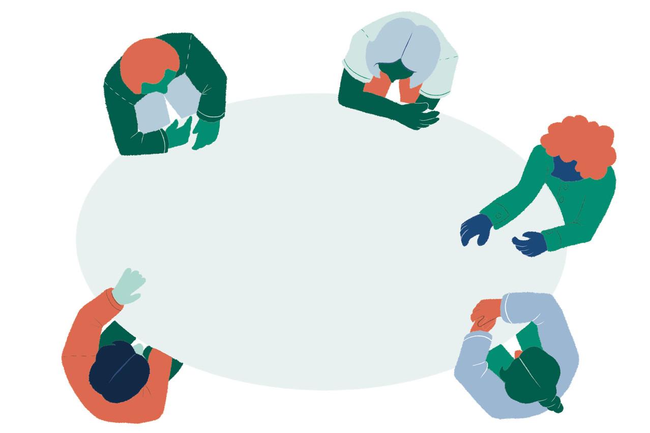 Au Luxembourg, les administrateurs indépendants sont de plus en plus souvent invités à s'asseoir à la table du conseil d'administration des fonds. (Illustration: Salomé Jottreau)