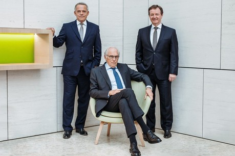 De gauche à droite, GuyHoffmann, ErnestCravatte et YvesBiewer. (Photo: Raiffeisen)