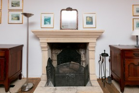 One of the main fireplaces of the castle Romain Gamba / Maison Moderne