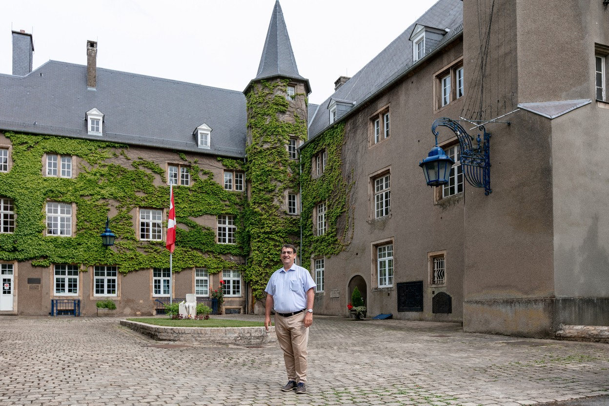 Mudec executive director Raymond Manes, shown here in the Differdange Castle courtyard, took on the role one year ago Romain Gamba/Maison Moderne