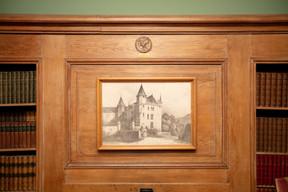 Lithographie issue d'un recueil de François Clément et Nicolas Liez, tel que le château apparaissait en 1834.  ((Photo: Romain Gamba/Maison Moderne))