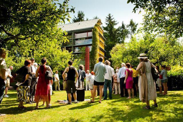 L'ensemble Lucilin et l'architecte François Valentiny ont invité le public à une visite musicale et architecturale unique. (Photo: L'ensemble Lucilin)