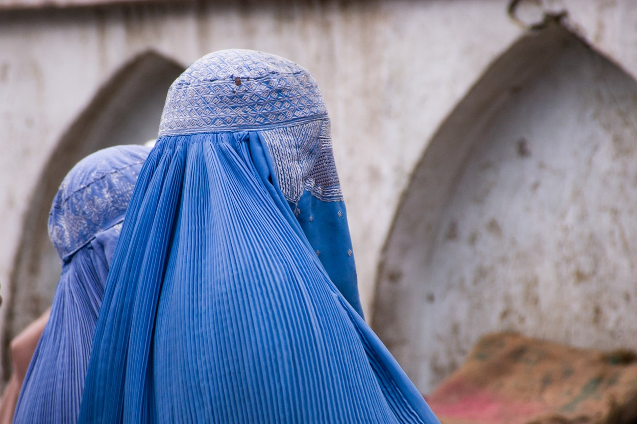 """Illustrative photo of women wearing burqas in Kabul, Afghanistan. """"It is completely humiliating,"""" says Laila about the covering. Photo: Shutterstock"""
