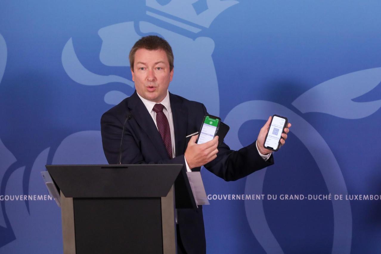 Début juillet,le ministre délégué à la Digitalisation, MarcHansen (DP), avait présentél'application MyGuichet.lu comme un outil pouvant simplifier les démarches administratives. (Photo: Archives SIP/Luc Deflorenne)