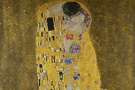 «Le Baiser», de Klimt, ici dans une version pixellisée, est visible dans la nouvelle exposition faite sur mesure avec le Belvédère à Vienne. (Photo: Shutterstock)