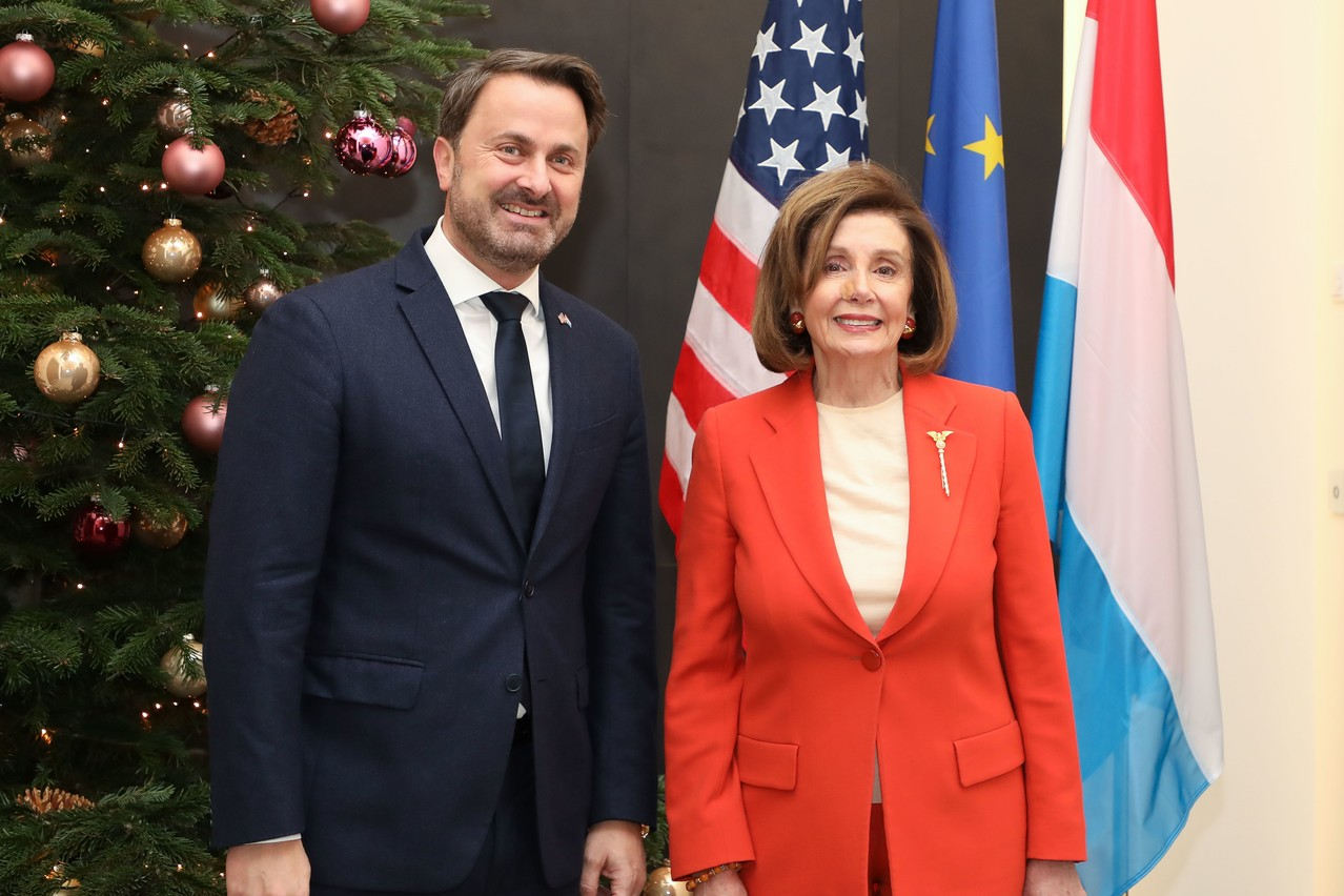Le multilatéralisme a notamment été au cœur de la discussion entre XavierBettel et NancyPelosi. (Photo: Luc Deflorenne)