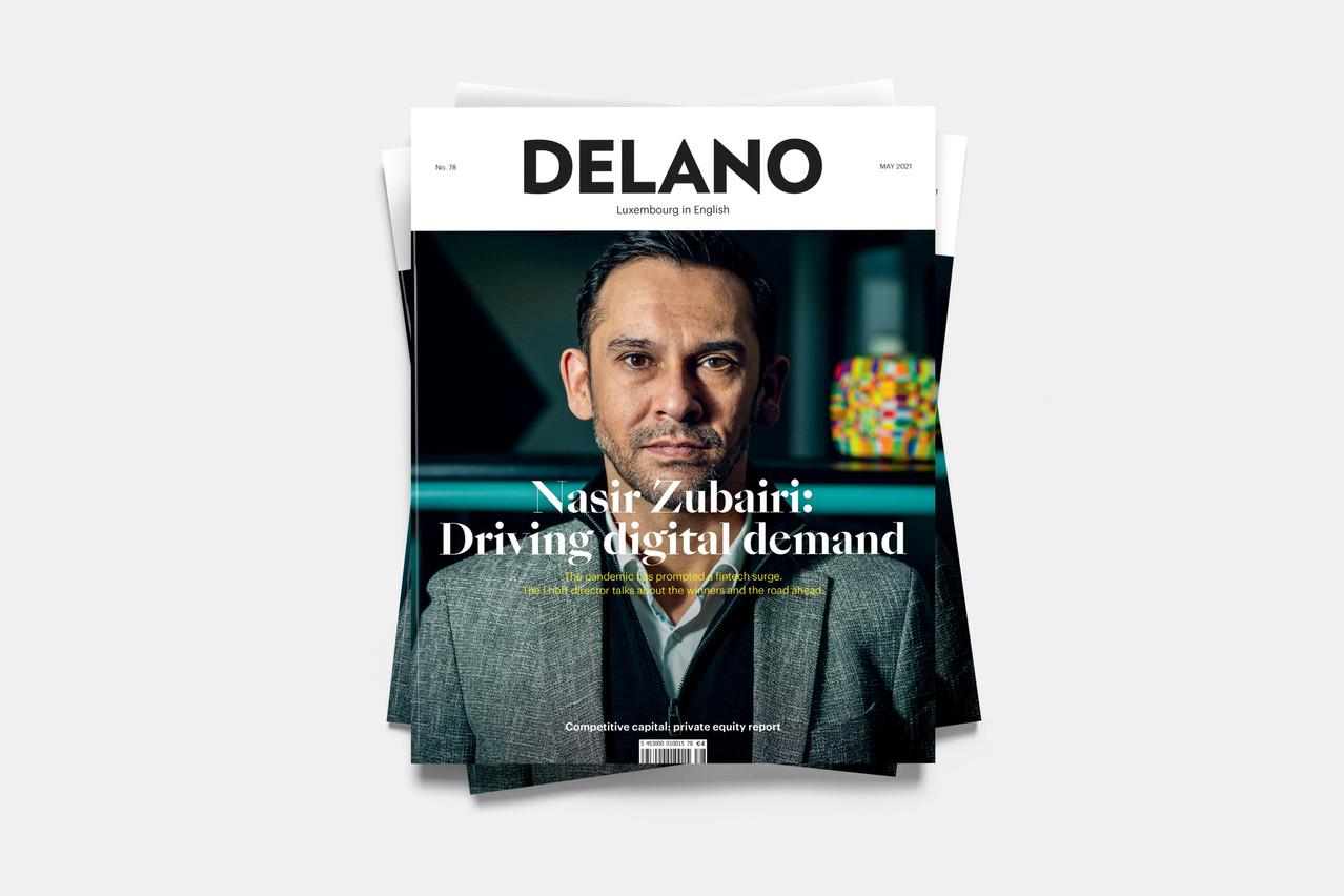 Nasir Zubairi en couverture du Delano de mai. (Illustration: Maison Moderne)