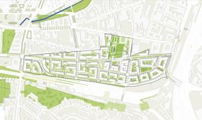 Le nouveau quartier sera desservi par le tram. ((Illustration: GIE Nei Hollerich))