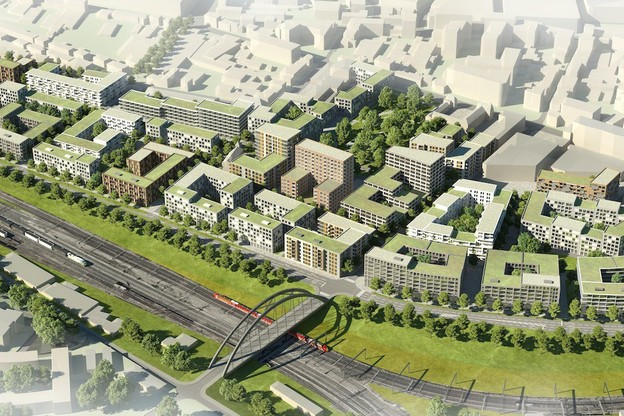 Le futur quartier représente une surface de 20,5 hectares. (Illustration: GIE Nei Hollerich)