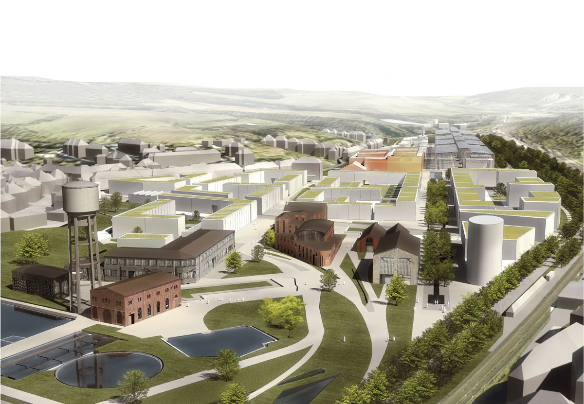 À l'horizon2035, environ 1.000nouveaux logements seront créés à Neischmelz. (Illustration: Fonds du logement)