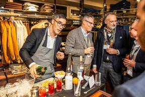 Julien Delpy (Maison Moderne), Bruno Pagliuca (Ofead Advisory), Enrico Mela (Bellatrix) et Luc Biever  (TNS Ilres) ((Photo: Jan Hanrion/Maison Moderne))