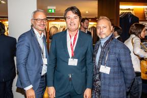 Patrick Lesage (Takaneo), Laurent Goffin (Maison Moderne) et Luc Schroeder (Mob Art Studio) ((Photo: Jan Hanrion/Maison Moderne))