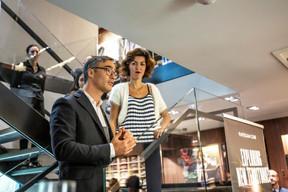Julien Delpy (Maison Moderne) et Sara Konjevic (Boggi Milano) ((Photo: Jan Hanrion/Maison Moderne))