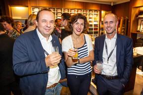 Andrea Prencipe (IT Investor Services), Sara Konjevic (Boggi Milano) et Alessandro Di Roberto (IT Investor Services) ((Photo: Jan Hanrion/Maison Moderne))