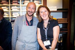Mathieu Mathelin (Maison Moderne) et Andrea Jagicza (JAD) ((Photo: Jan Hanrion/Maison Moderne))