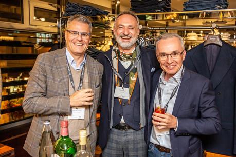 Bruno Pagliuca (Ofead Advisory), Enrico Mela (Bellatrix) et Luc Biever  (TNS Ilres) (Photo: Jan Hanrion/Maison Moderne)
