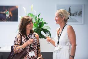 Catherine Papp (Key-Way) et Marianne Van Den Eerenbeemt (Livinlux) ((Photo: Patricia Pitsch/Maison Moderne))