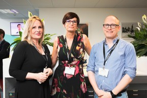 Pascale Kraft (Medi-K), Nathalie Cravatte (NC Coatching - Coach de vie et consulting) et Yannick Lang (Banana Republic Office) ((Photo: Patricia Pitsch/Maison Moderne))