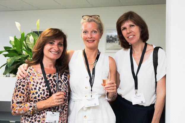 Catherine Papp (Key-Way), Marianne Van Den Eerenbeemt (Livinlux) et Susanne Arend (Change Focus) (Photo: Patricia Pitsch/Maison Moderne)