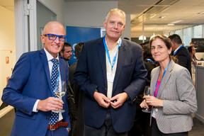 Peter Vandenbussche (SAS), Robin Jensen (Birdee), Elisa Jensen (PwC) ((Photo: Jan Hanrion / Maison Moderne))